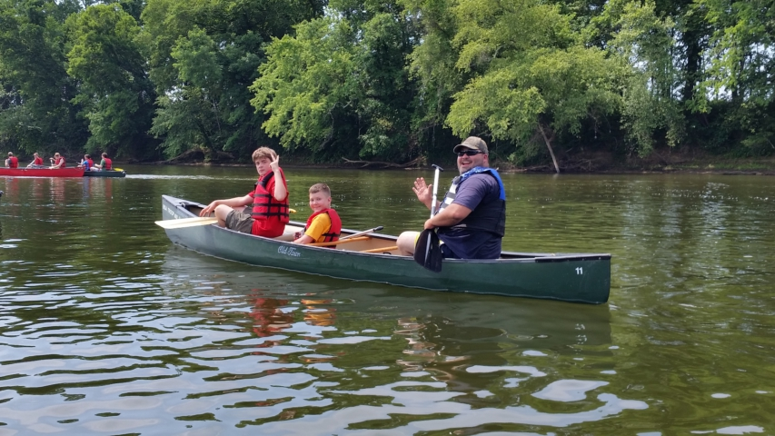Canoeing On The James River